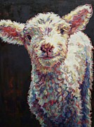 Lamb Framed Prints - Mary Framed Print by Patricia A Griffin