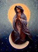 Spiritual Painting Prints - Mary Queen of Heaven Print by Timothy Jones