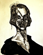 Novel Drawings - Mary Shelley by Will  Carlson