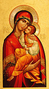 Baby Jesus Photo Prints - Mary The God Bearer Print by Philip Ralley