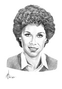 People Drawings Originals - Mary Tyler Moore by Murphy Elliott