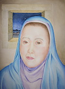 Religious Art Painting Prints - Mary Waits At Easter Dawn Print by Michele Myers