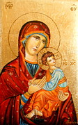 Orthodox Painting Originals - Mary with Jessus r.2 by Sorin Apostolescu