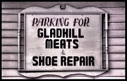 Shoe Repair Posters - Maryland Country Roads - Some Things Just Dont Go Together No. 1 - Gladhill Meats and Shoe Repair Poster by Michael Mazaika