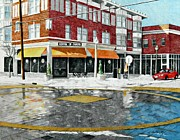 City Scene Drawings Originals - Maryland Plaza by Susie Tenzer