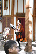 Maryland Renaissance Festival - Johnny Fox Sword Swallower - 121210 Print by DC Photographer