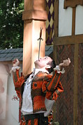 Dress Posters - Maryland Renaissance Festival - Johnny Fox Sword Swallower - 121229 Poster by DC Photographer