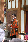 Middle Prints - Maryland Renaissance Festival - Johnny Fox Sword Swallower - 121241 Print by DC Photographer