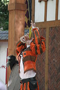 Maryland Renaissance Festival - Johnny Fox Sword Swallower - 121246 Print by DC Photographer
