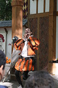 Medieval Metal Prints - Maryland Renaissance Festival - Johnny Fox Sword Swallower - 121254 Metal Print by DC Photographer