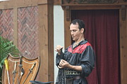 Middle Prints - Maryland Renaissance Festival - Johnny Fox Sword Swallower - 121259 Print by DC Photographer