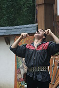 Festival Photo Posters - Maryland Renaissance Festival - Johnny Fox Sword Swallower - 121264 Poster by DC Photographer