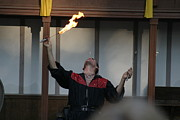 Fox Prints - Maryland Renaissance Festival - Johnny Fox Sword Swallower - 121291 Print by DC Photographer