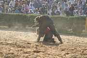 Maryland Renaissance Festival - Jousting And Sword Fighting - 1212105 Print by DC Photographer