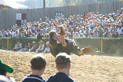Maryland Renaissance Festival - Jousting And Sword Fighting - 1212110 Print by DC Photographer