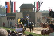 Artist Metal Prints - Maryland Renaissance Festival - Jousting and Sword Fighting - 1212133 Metal Print by DC Photographer