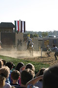 Medieval Posters - Maryland Renaissance Festival - Jousting and Sword Fighting - 1212174 Poster by DC Photographer
