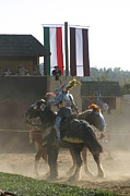 Maryland Renaissance Festival - Jousting And Sword Fighting - 1212175 Print by DC Photographer