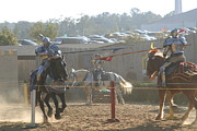 Horses Prints - Maryland Renaissance Festival - Jousting and Sword Fighting - 1212196 Print by DC Photographer