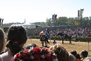 Maryland Renaissance Festival - Jousting And Sword Fighting - 1212209 Print by DC Photographer