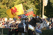 Armour Prints - Maryland Renaissance Festival - Jousting and Sword Fighting - 121225 Print by DC Photographer