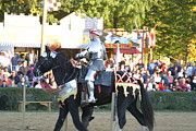 Fighting Prints - Maryland Renaissance Festival - Jousting and Sword Fighting - 121233 Print by DC Photographer