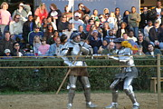 Middle Prints - Maryland Renaissance Festival - Jousting and Sword Fighting - 121238 Print by DC Photographer
