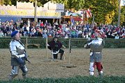 Knights Prints - Maryland Renaissance Festival - Jousting and Sword Fighting - 121239 Print by DC Photographer
