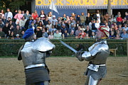 Festival Prints - Maryland Renaissance Festival - Jousting and Sword Fighting - 121242 Print by DC Photographer