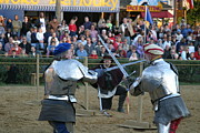 Fighting Prints - Maryland Renaissance Festival - Jousting and Sword Fighting - 121244 Print by DC Photographer