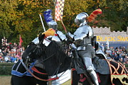 Olde Posters - Maryland Renaissance Festival - Jousting and Sword Fighting - 121245 Poster by DC Photographer