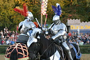 Maryland Renaissance Festival - Jousting And Sword Fighting - 121247 Print by DC Photographer