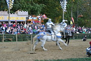 Fighting Prints - Maryland Renaissance Festival - Jousting and Sword Fighting - 121251 Print by DC Photographer