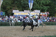 Artist Prints - Maryland Renaissance Festival - Jousting and Sword Fighting - 121255 Print by DC Photographer