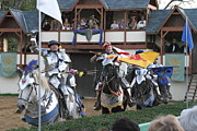 Actor Prints - Maryland Renaissance Festival - Jousting and Sword Fighting - 121258 Print by DC Photographer