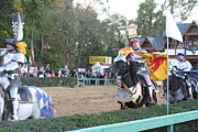 Fighting Prints - Maryland Renaissance Festival - Jousting and Sword Fighting - 121259 Print by DC Photographer