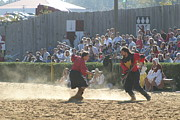 Fighting Prints - Maryland Renaissance Festival - Jousting and Sword Fighting - 121283 Print by DC Photographer
