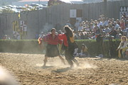 Knight Prints - Maryland Renaissance Festival - Jousting and Sword Fighting - 121290 Print by DC Photographer