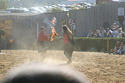 Knight Prints - Maryland Renaissance Festival - Jousting and Sword Fighting - 121292 Print by DC Photographer