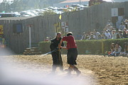 Maryland Renaissance Festival - Jousting And Sword Fighting - 121293 Print by DC Photographer