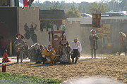 Maryland Renaissance Festival - Jousting And Sword Fighting - 121298 Print by DC Photographer
