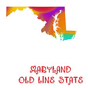 Maryland Digital Art - Maryland State Map Collection 2 by Andee Photography