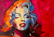 Marylin Paintings - Marylin Monroe - Spontaneous by Leonidas Matis