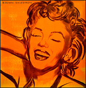 Marylin Paintings - Marylin Orange by Bjorn Davidson