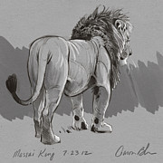 Masai King Print by Aaron Blaise