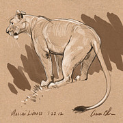 Animals Digital Art - Masai Lioness by Aaron Blaise