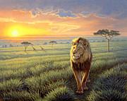 Masai Mara Sunset Print by Paul Krapf