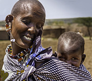 Mark Coran - Masai mother and child