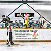 Minor Hockey Digital Art - Mascot Coaching Staff by Elizabeth Urlacher