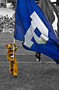 Penn State University Metal Prints - Mascot with the Flag Metal Print by Gallery Three